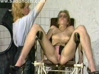 Vintage video of slave geting her tits coverd in hot candlewax while another slave gets clamps on her pussy lips