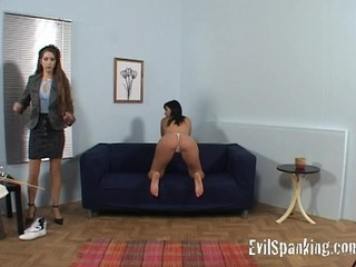 Girl gets some hard ass spanking