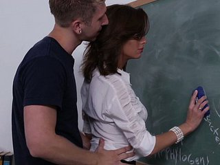 Brunette MILF School Teacher