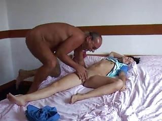 Sweaty Older Dude Fucks A Sleepi...