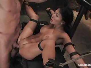 Tied-up Asian Babe Getting Her H...