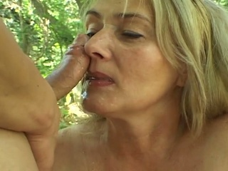 Chubby Busty Mature Blonde Gets...