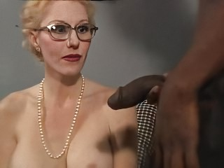 Big cock Blowjob Granny Interracial