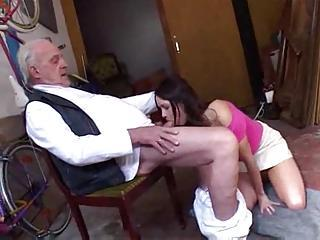 Old Man Gets Head From And Fucks...