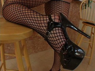 Fishnet Girl Gets A Full Black S...