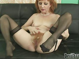 Dirty Milf Gets Her Hairy Pussy...