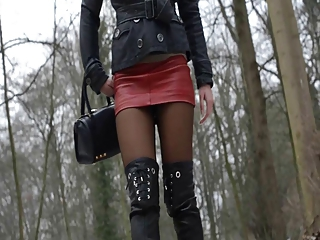 Used Overkneeboots & Shoes: Leat...