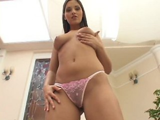 Horny Brunette With Hot Ass Fingering and Dildoing Her Pussy