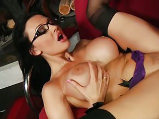 Gorgeous babe Aletta Ocean gets splattered with hot cum on her filthy face
