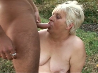 Chubby Blonde Granny Gets Fucked...