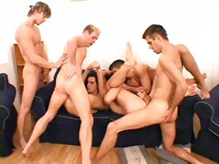 Group of horny guys always means fun 1