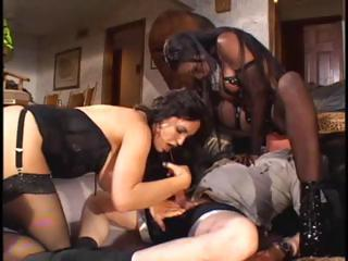Ebony Bitch And Her Brunette Mis...