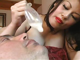 Mistress Cucks Man And Pours Cum...