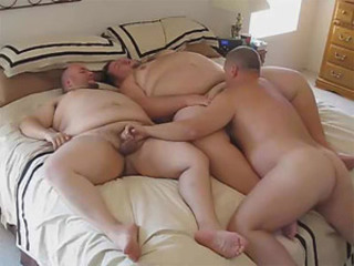 Three horny bears love fucking bareback