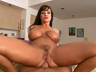 Slutty Lisa Ann Gives a Titty Fuck and Then Gets Banged and Facialized