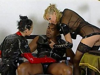 Cock-Bursting Bondage Threesome Featuring Britnee and Michelle Wild