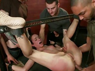 Amber Rayne is tied up & slammed up her ass hole