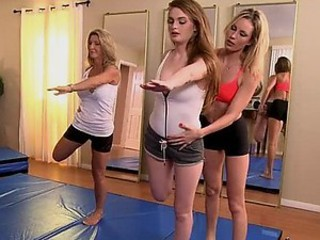 Hot Lesbian Action After Yoga Class