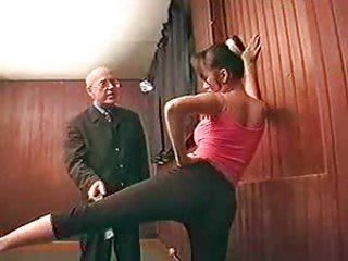 Old dude gets to fuck a nice young slut
