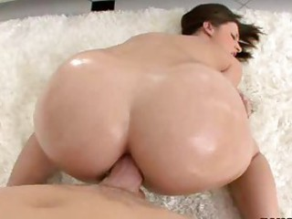 Big oiled ass fucked deep