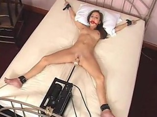Charlie Laine Tied To Bed Increased by Fucked By Machine