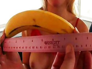Annette Swallows A Fat Banana