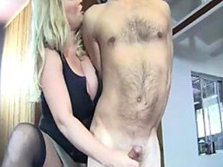 Stepmom Rachel Love likes to jerk him of