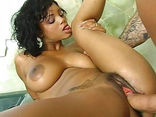 Lavish Styles gets fucked firm then has her breasts cummed on all sides over.