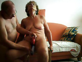 Mature wife is toyed by her hubby