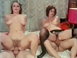 Retro group scene with creampies