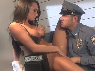 Brunette Alektra Blue Is The Hottest Criminal Ever To Fuck a Policeman