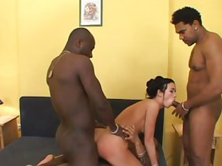 Nasty Nikki Dark gets treated to a double dicking