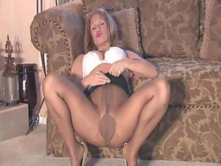 Pantyhose milf playing for you
