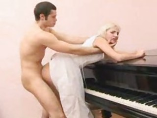 Ramming cock into the sweet blonde bride
