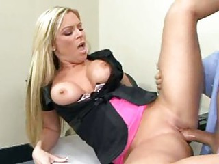 Sex goddess Ahryan Astyn squeezes huge rod into her tight pussy