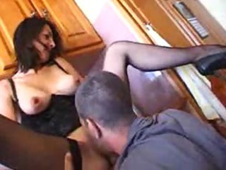 French mature with a great body makes hot porn