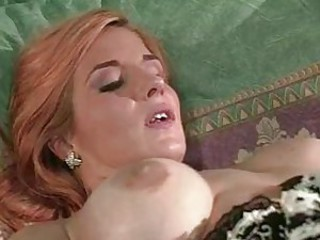 Drilling redhead in her tasty pussy hole