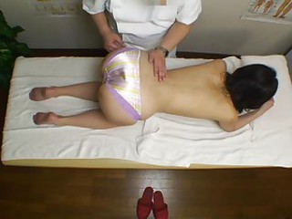 A rubdown turns her on and she takes cock