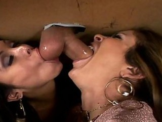 Three Hot Pornstars In Smoking Hot Gloryhole Action