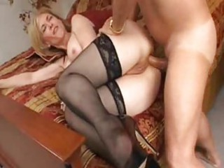 Lusty milf here great stockings is ass fucked