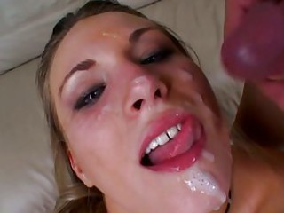 Raunchy Harmony Rose gets a mouth full off hard cock