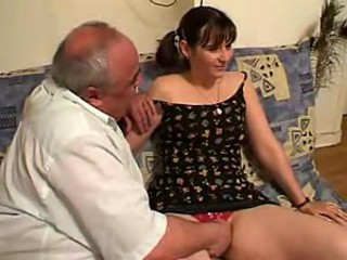 3 French daddies fuck a slut