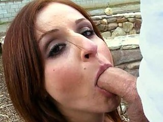 Ranch life made this Busty Redhead MILF very Horny