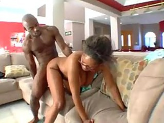 Prudish black pussy on black dick