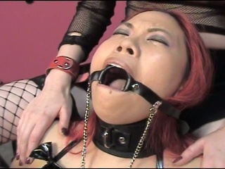Gagged and juicy cum ravenous sluts enjoying hardcore torturing fun