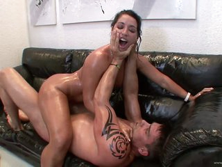 Big Assed Latina Monica Santhiago Gets a DP and a Facial Upon a 3some