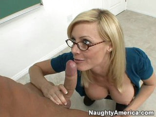 Holly Sampson slid a long thick cock down her wet tight throat