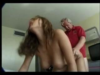 Old man fucks hot maid