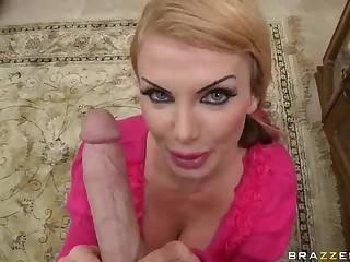 Busty MILF Taylor Wane takes big cock of her dreams