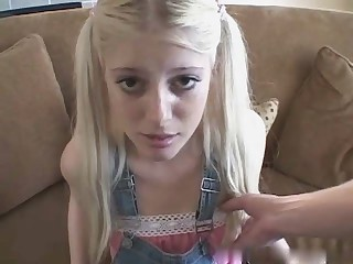 Amateur Babysitter Blonde Cute Skinny Teen